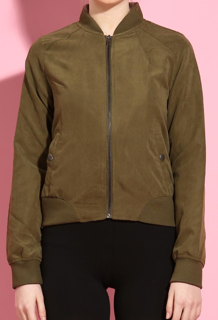 dc37e848b Zip-Front Bomber Jacket | Shop Old Jackets at Papaya Clothing