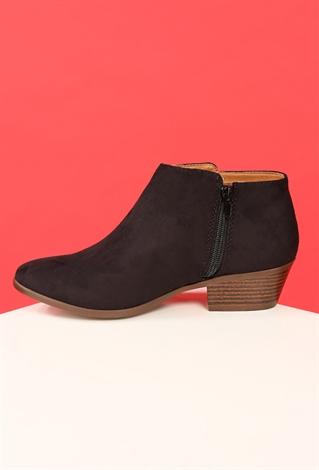 faux suede ankle boots shop sale at papaya clothing