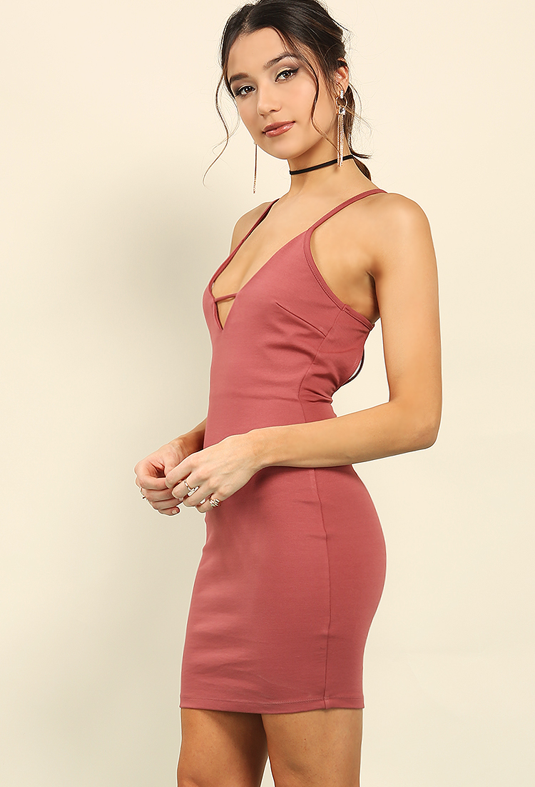 Plunging Strappy Cutout-Back Dress
