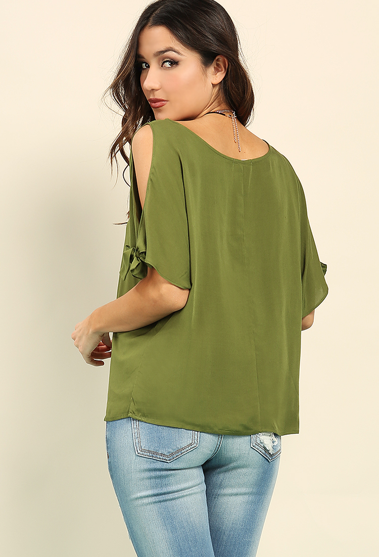 Open-Shoulder Batwing Top