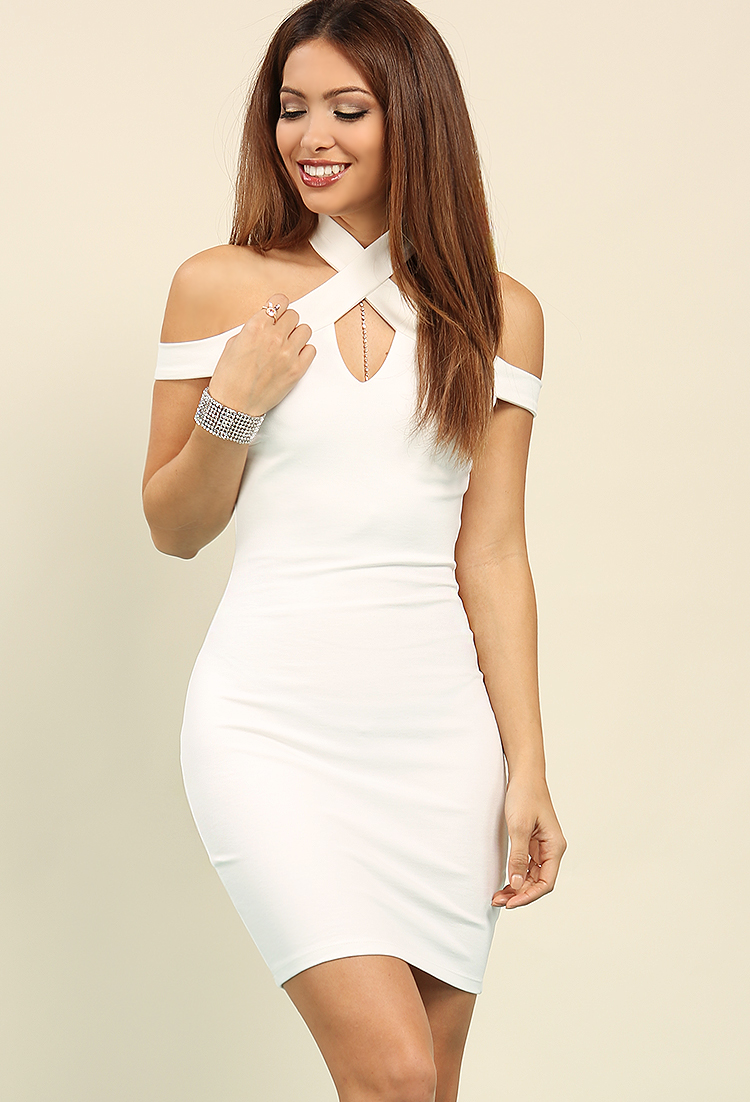Cutout Halter Bodycon Dress