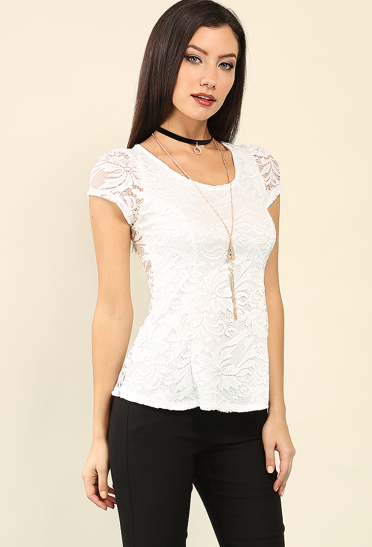 Shop Design Lab, Floral Lace Peplum Top at Lord & Taylor. Free shipping on any order over $ In order to use all of the site functionality on the Lord and Taylor website, you .