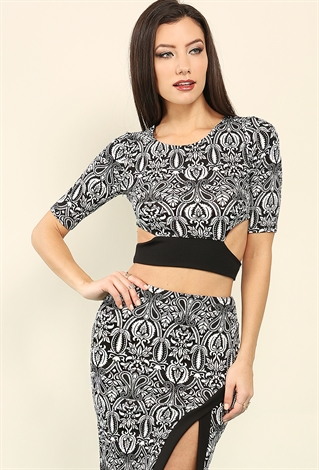 abstract printed self tie crop top shop cropped tops