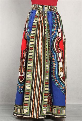 tribal print maxi skirt shop clothing at papaya clothing