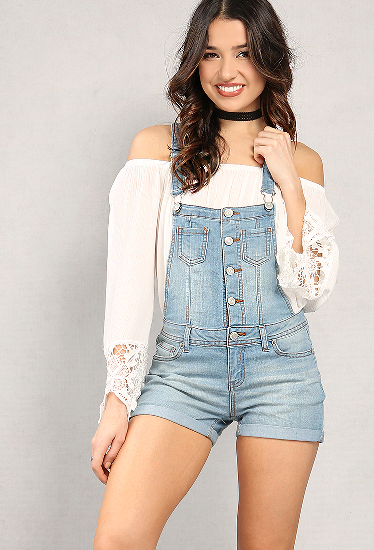 d47138f999 Button-Up Denim Overalls | Shop What's New at Papaya Clothing