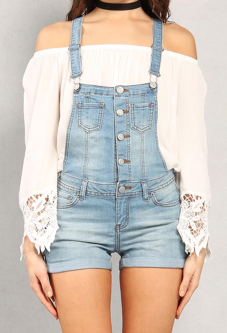 5da701a91d Button-Up Denim Overalls | Shop Old Shorts at Papaya Clothing