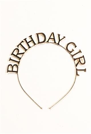 Metallic Birthday Girl Headband  33ba5a00593