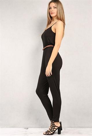 Belted Cami Jumpsuit | Shop Dresses at Papaya Clothing