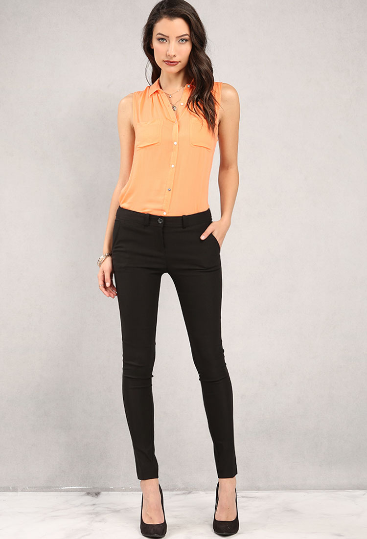 Skinny-Stretch Dress Pants | Shop New And Now at Papaya Clothing