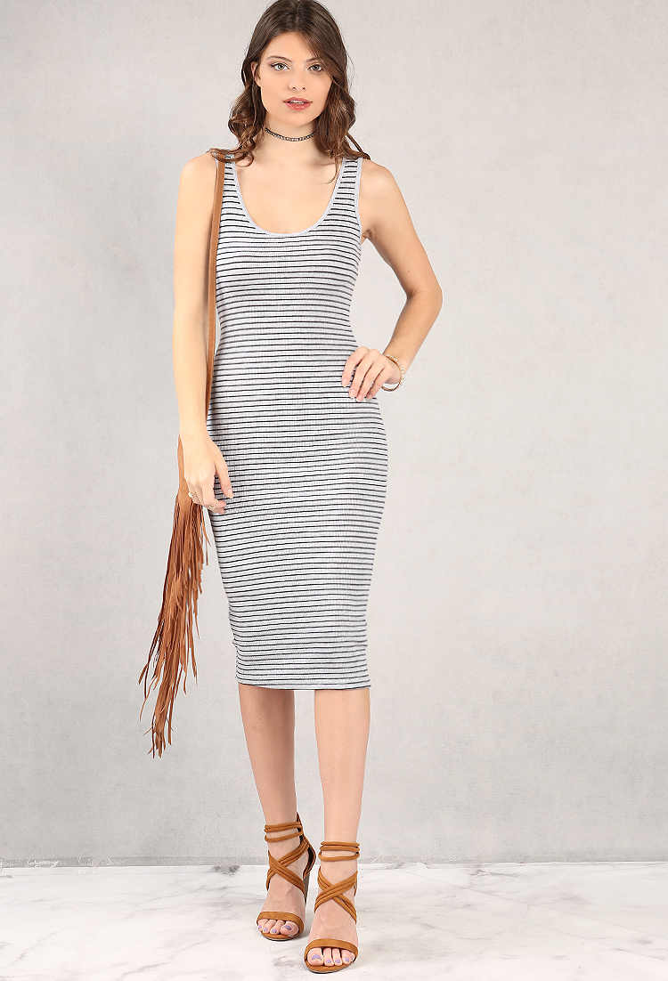 Striped Midi Tank Dress | Shop Old Midi Dresses at Papaya ...