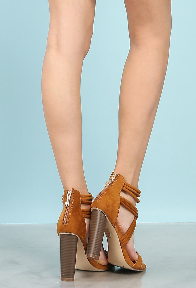 816351978b8 Strappy Faux Suede Heels | Shop Old Shoes at Papaya Clothing