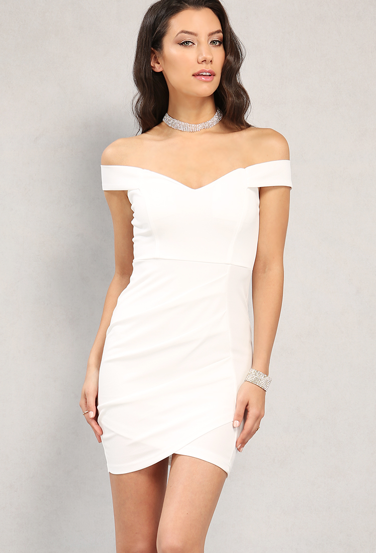 a6d61cfd62f5 Ruched Off-The-Shoulder Sweetheart Dress