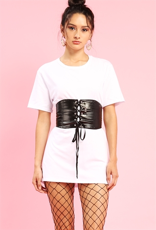 Corset T Shirt Dress Shop Dresses At Papaya Clothing