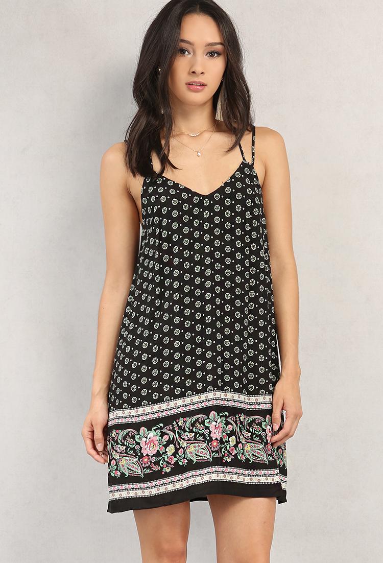 3f221ea6e4d Strappy Ornate Printed Cami Dress