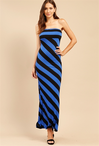 Striped Tube Maxi Dress | Shop Summer Rompers & Dresses Starting ...