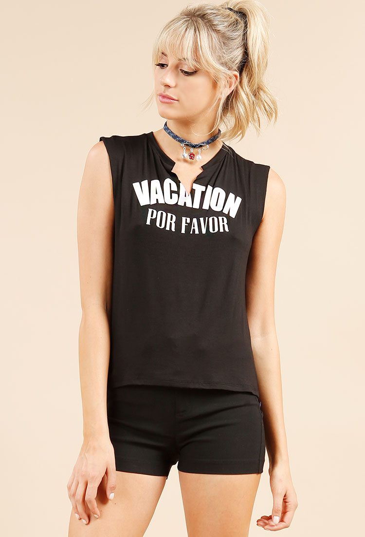 32ddcf5c Vacation Por Favor Graphic Muscle Tee | Shop Long Weekend Sale! 60%Off at  Papaya Clothing