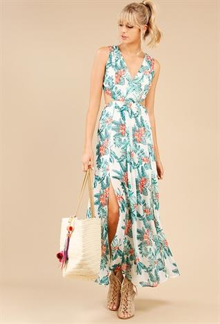 Tropical Print Resort Maxi Dress | Shop Dresses at Papaya Clothing