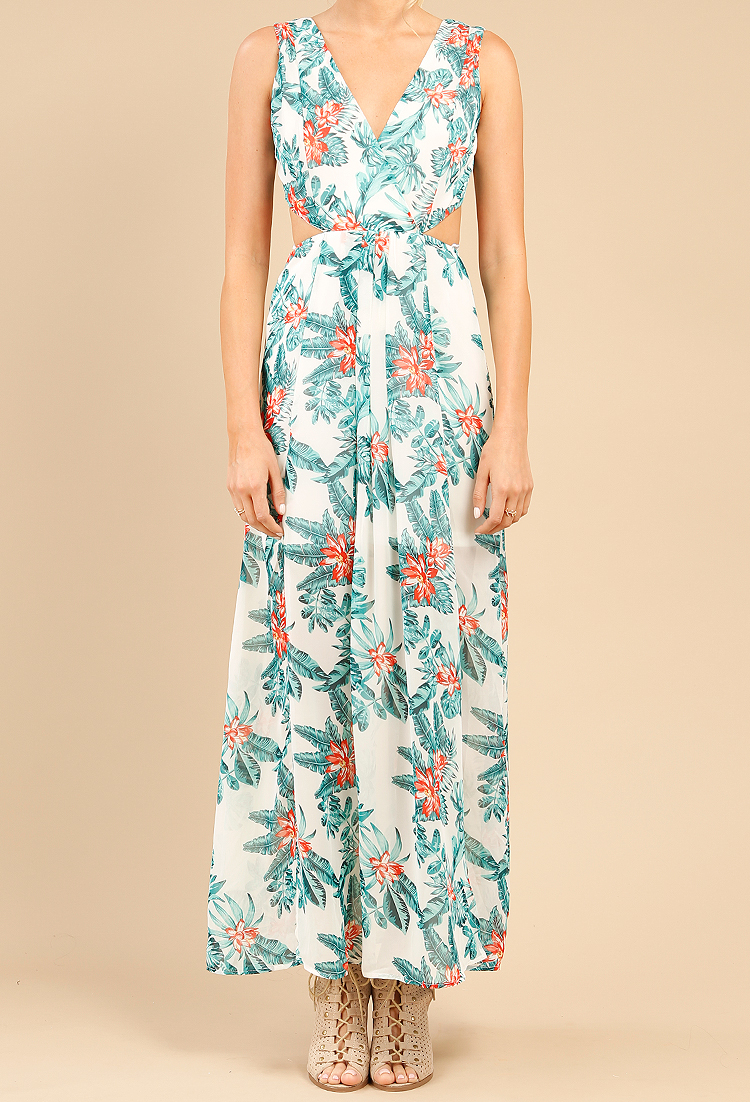 e807ed283d Tropical Print Resort Maxi Dress | Shop at Papaya Clothing