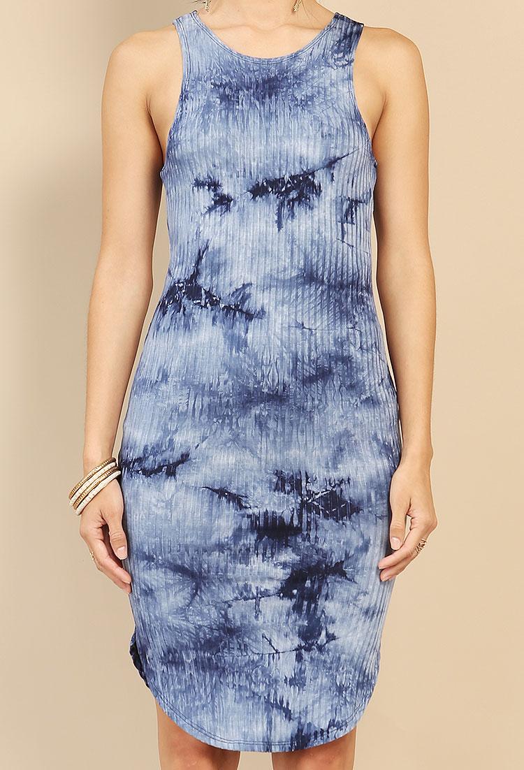 f71dc01f631a Ribbed Tie-Dye Midi Dress | Shop Dresses at Papaya Clothing