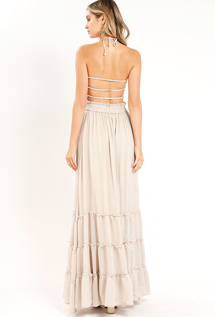 Tiered Smocked Strappy-Back Maxi Dress ... aee9db5dc