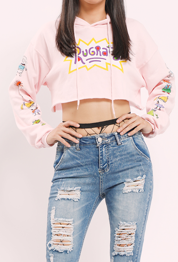 a5b148195a47 Rugrats Graphic Cropped Hoodie