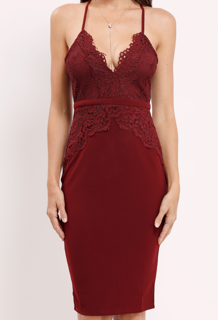 Embroidered Lace Bodycon Dress Shop Old Dresses At Papaya