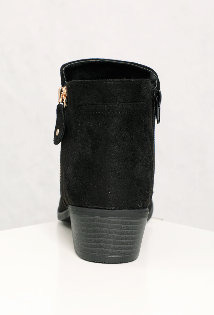 9b1d2aab606 Faux Suede Ankle Boots
