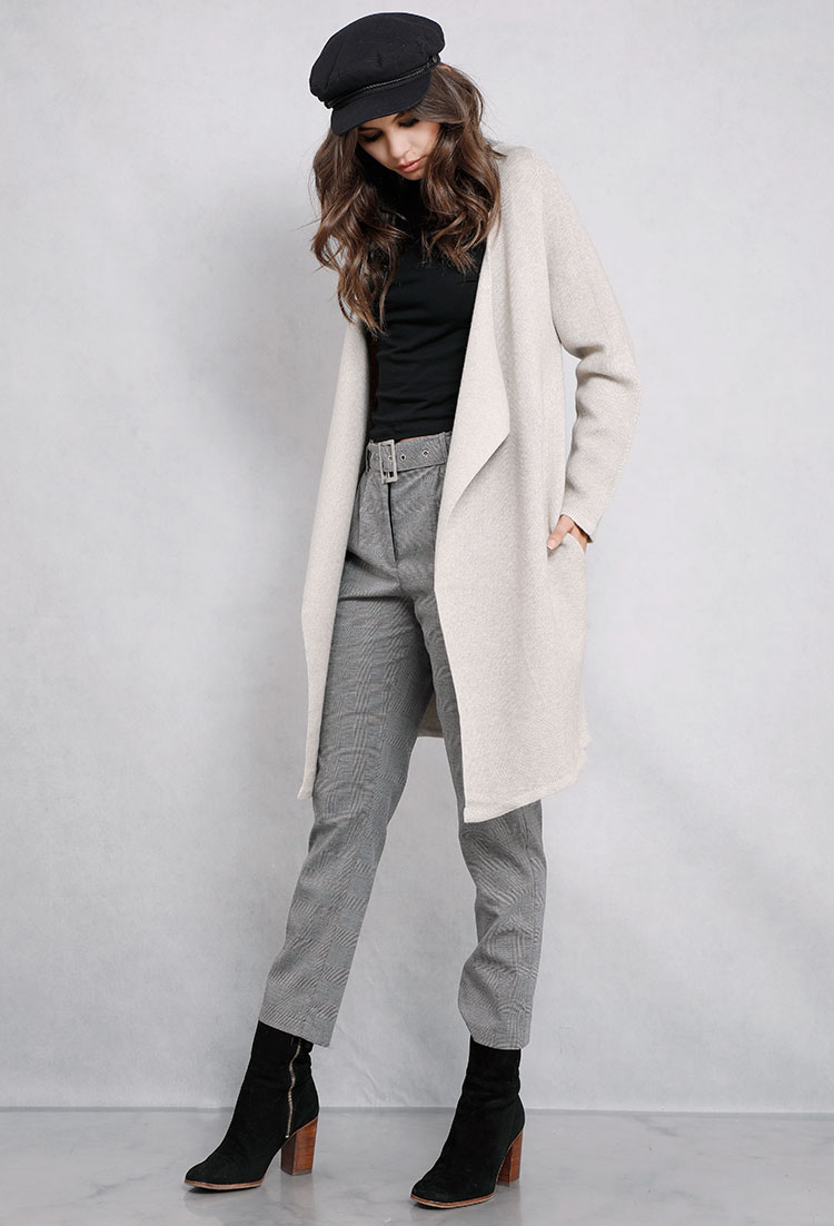 b sweater open long front draped iclosam drapes sleeve hooded products w womens with cardigan pockets