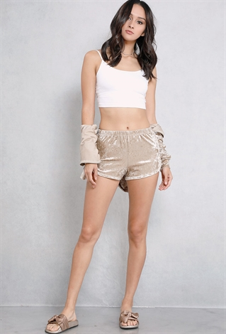 Crushed Velvet Shorts