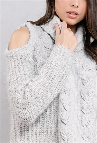 Heavy Cable Knit Turtleneck Sweater | Shop Sweaters & Cardigans at ...