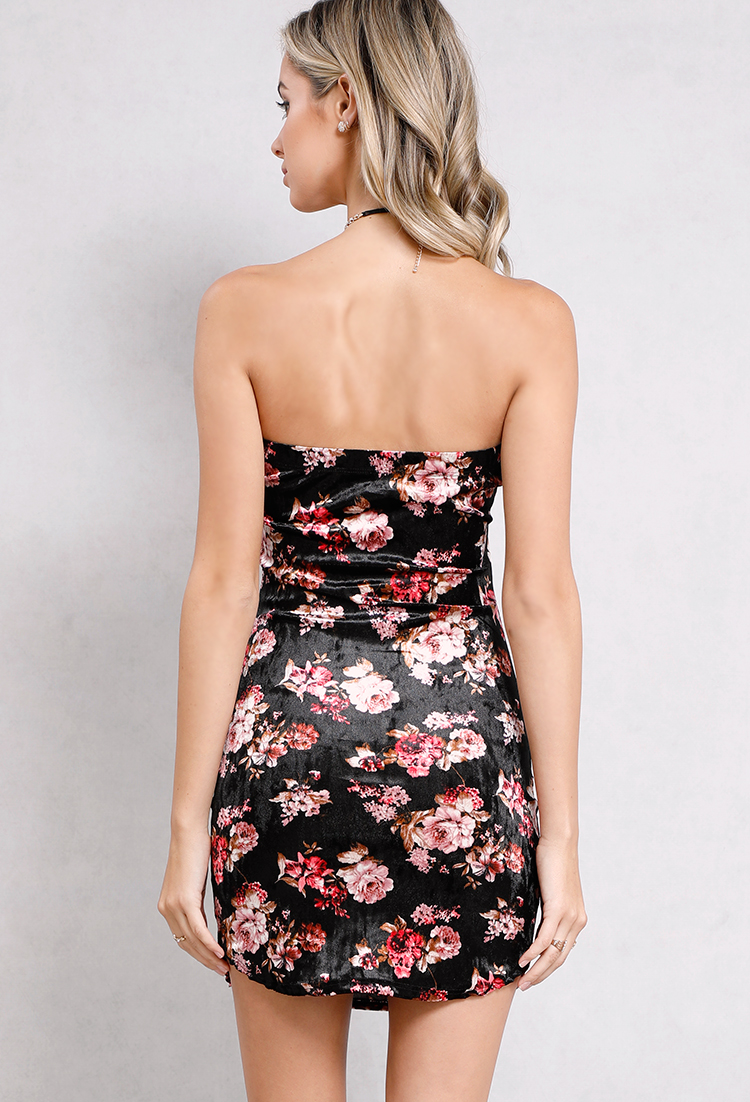 Floral Tube Top Bodycon Dress