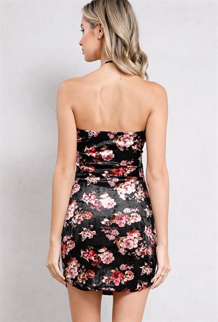 floral tube top bodycon dress shop sale dresses at