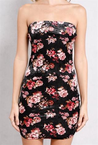 floral tube top bodycon dress shop dresses at papaya