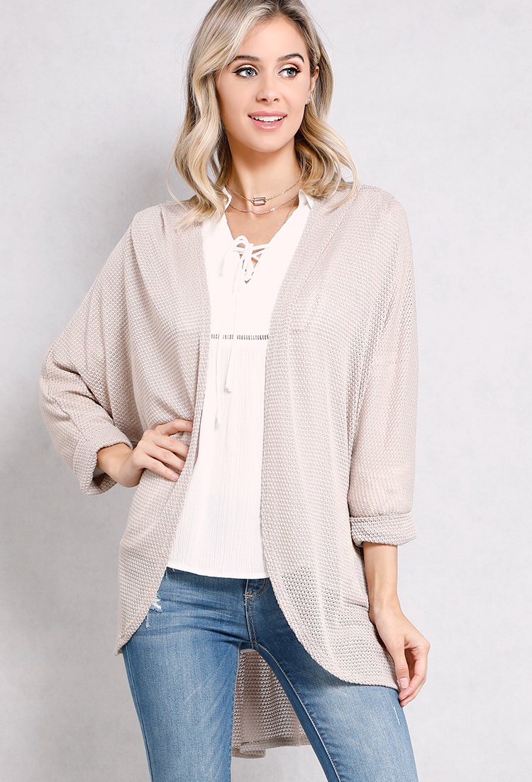 Open-Front Longline Cardigan | Shop Sweaters & Cardigans at Papaya ...