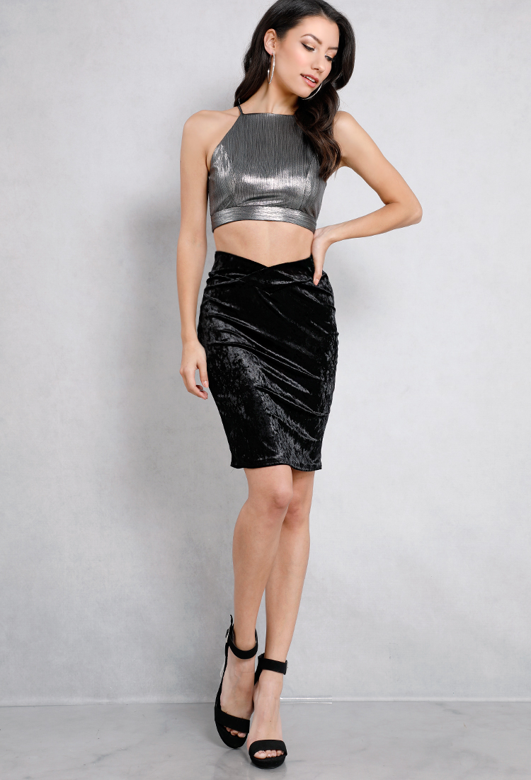 Velvet Sweetheart  Bodycon Skirt