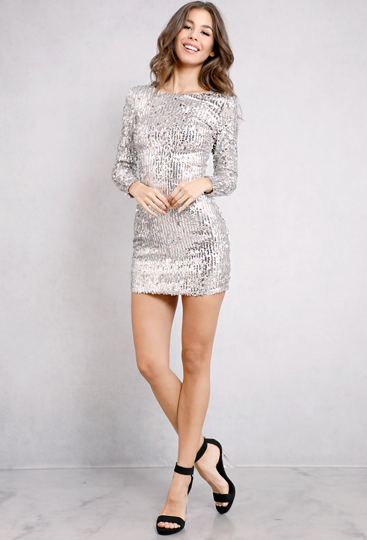 6a24dcb2 Longsleeve Sequin Bodycon Dress | Shop Girlfriend Soiree at Papaya Clothing