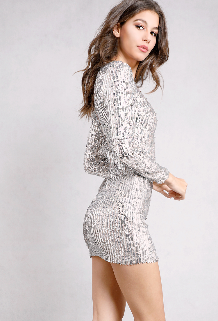 5f821969 Longsleeve Sequin Bodycon Dress | Shop New And Now at Papaya Clothing
