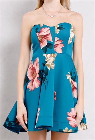 floral tube mini dress shop mini dresses at papaya clothing
