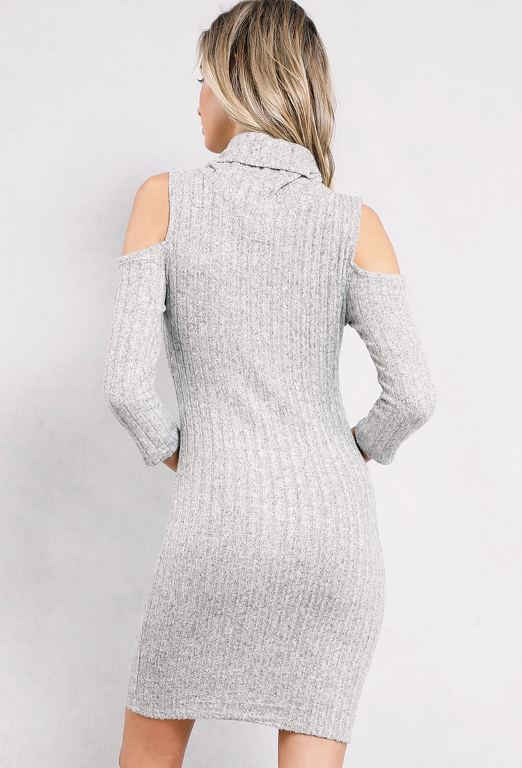 Ribbed Cowl-Neck Sweater Dress | Shop Night Out Outfits at Papaya ...