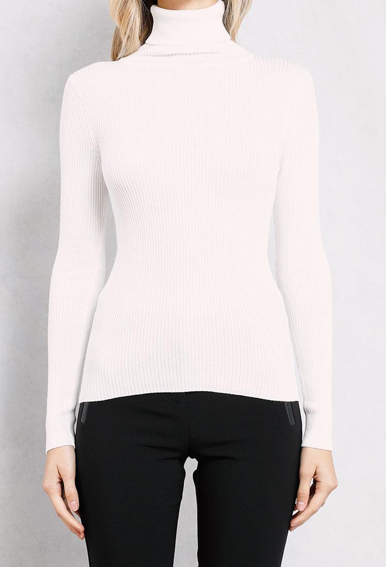 230fa1fbcdaf9a Ribbed Knit Turtleneck Sweater | Shop Sale at Papaya Clothing