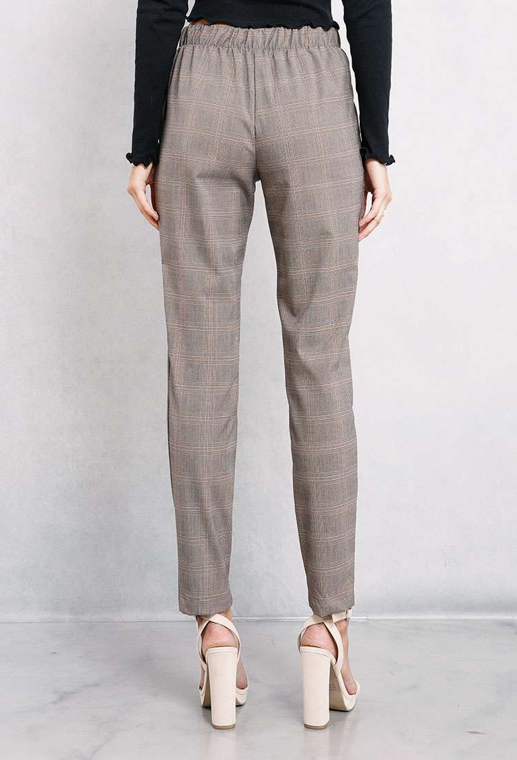Plaid Self-Tie Pants