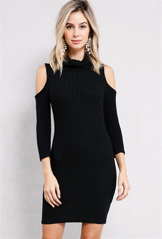 Find great deals on eBay for ribbed sweater dress. Shop with confidence. Skip to main content. eBay: [FINAL SALE]Doublju Cowl Neck Ribbed Knit Fitted Sweater Dress See more like this. SPONSORED. SML Long Line Ribbed Fitted Midi Ripped rip Long sleeve Sweater Knit Tunic Dress.