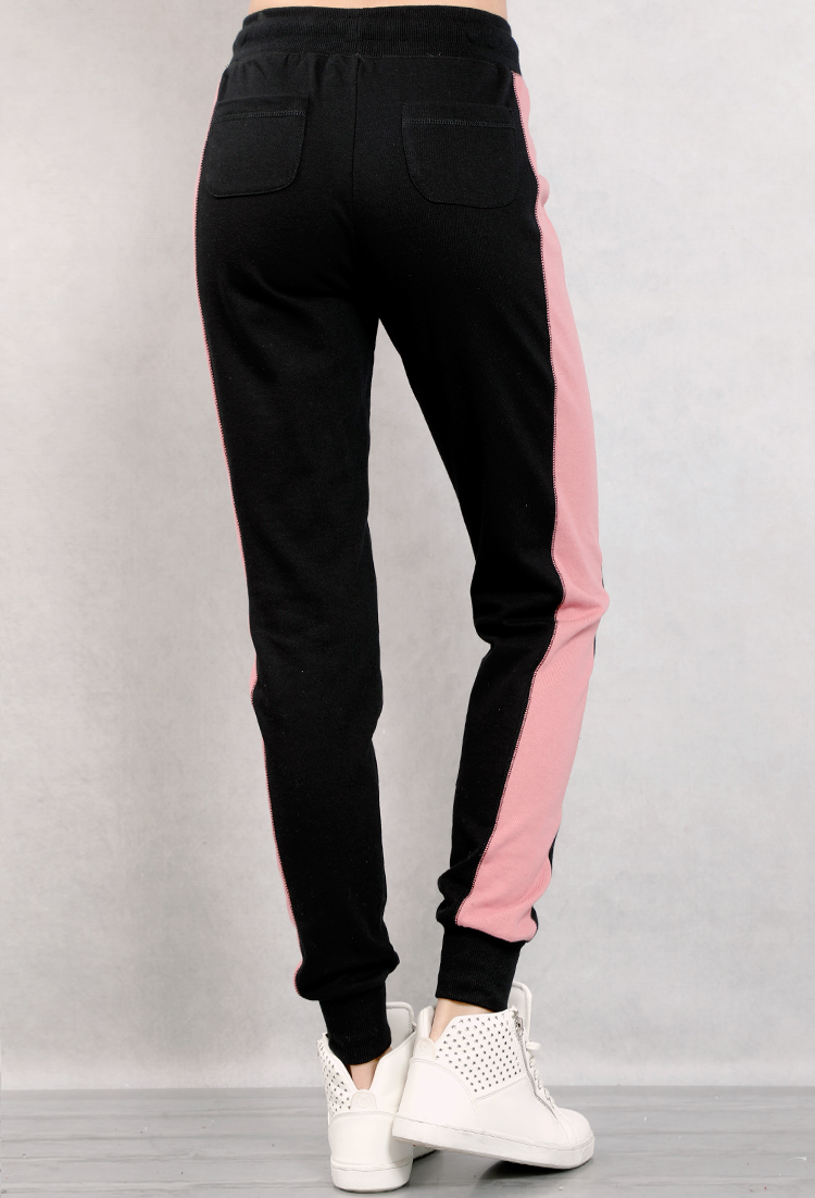 Colorblock Drawstring Sweatpants