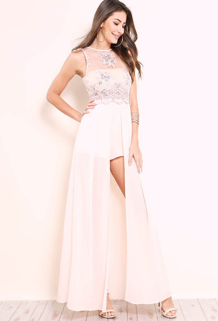 2a8c93620c50 ... Sheer Mesh Sequin Embroidered Maxi Romper ...