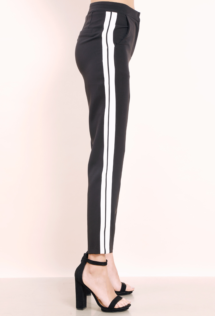 891186561f2 Contrast Stripe Ankle Pants ...