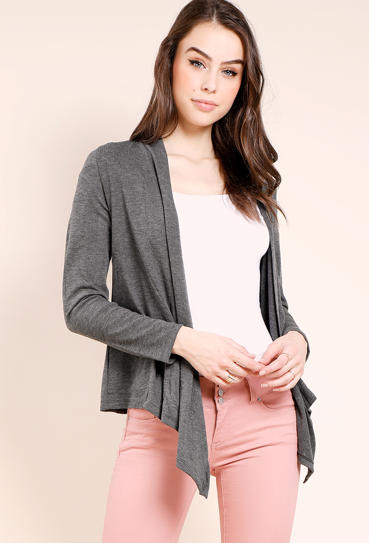 drapes forever shop front cardigan product sweater open draped catalog cardigans ca