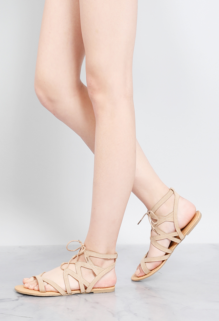 6f6374a8565650 Ankle-Wrap Sandals