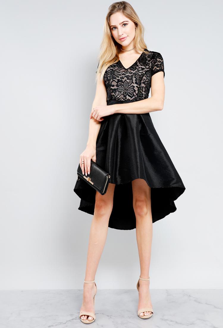 Floral Mesh Satin Fit And Flare Tie-Back Dress | Shop Midi Dresses ...