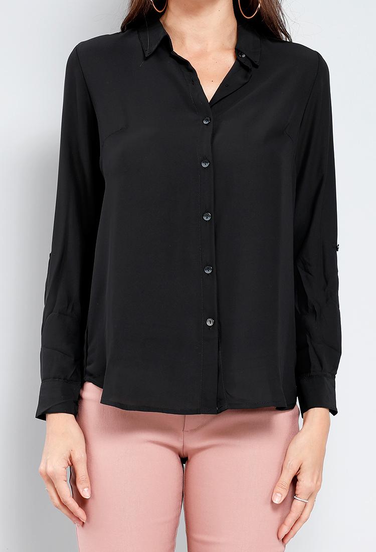 dcf2b7d6b Chiffon Button Down Shirt | Shop Old Denim Daze at Papaya Clothing