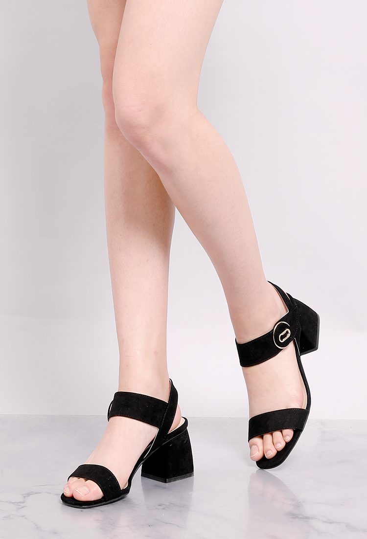 Button Middle Heels